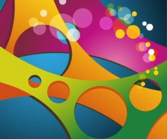 Vector Colored Background Abstract Vector Graphics