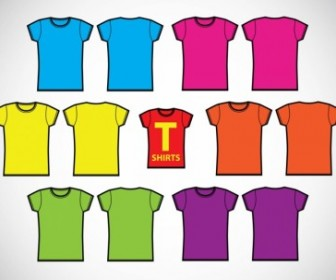Vector Girls TShirts Template People Vector Art