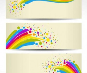 Vector Colorful Banners Background Vector Art