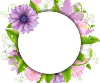 Vector Flowers Border 02 Flower Vector Art