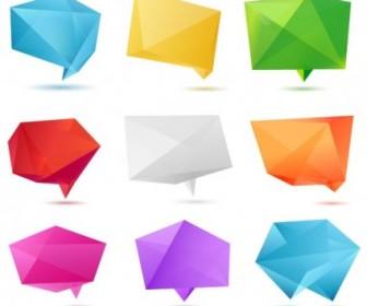 Vector Color Origami 01 Vector Art