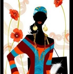 Vector Fashion Girl 2 Simple Life People Vector Art