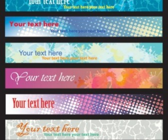 Vector Brilliant Dynamic Banners 04 Vector Banner