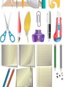 Vector Office Supplies Icon Vector Graphics