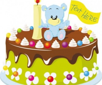 Vector Cake 03 Cartoon Vector Art