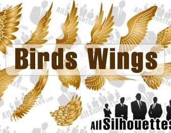 Vector Birds Wings Silhouettes Vector Graphics