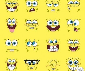 Vector Spongebob Squarepants Pack Faces Vector Art