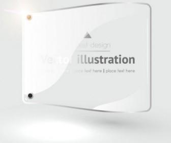 Vector Label Glass Texture 02 Elements Background Vector Art