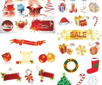 Vector Decorative Elements Christmas Vector Graphics