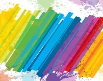 Vector Abstract Rainbow Background Vector Art