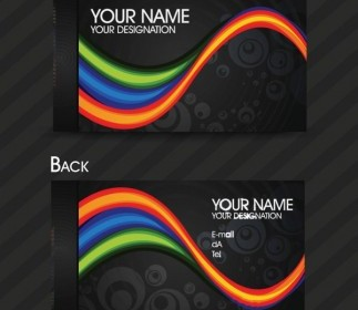 Vector Dynamic Color Business Card Templates 03 Vector Art