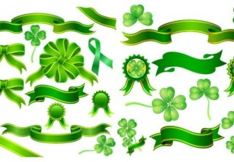 Vector Clover Ribbon Vector Art
