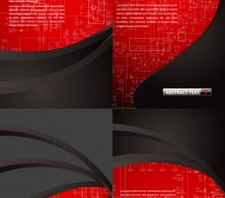 Vector Red Plate Background Vector Art