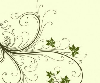 Vector Swirl Floral Graphic Abstract Vector Graphics
