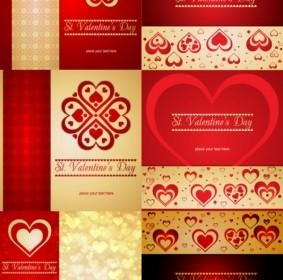 Vector Romantic Heartshaped Pattern Background Vector Art