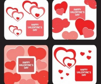 Vector Greeting Card Templates For Valentine Day Heart Vector Art