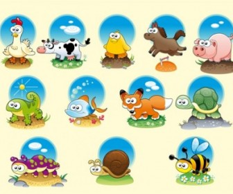 Vector Animals Cartoon Vector Art