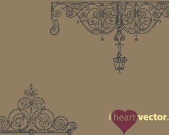 Vector Antique Iron Ornament Pack Vector Art