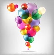 Vector Colored Balloons 03 Vector Art