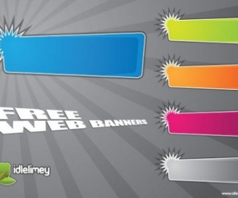 Vector Bright Banners Web Design Vector Graphics