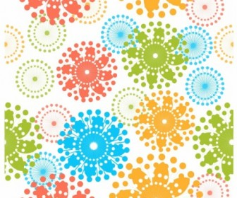 Vector Modern Floral Pattern Vector Art