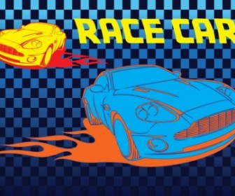 Vector Race Car Vector Art