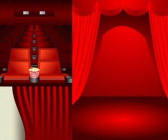 Vector Theater Stage Theme Vector Art