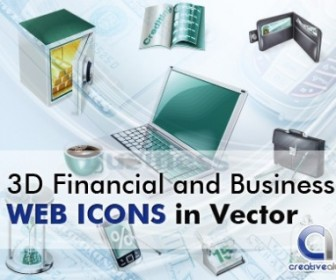 Vector 3D Financial And Business Icons Web Design Vector Graphics