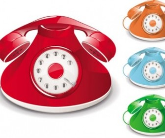 Vector Oldfashioned Telephone Vector Art