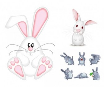 Vector Cute Rabbit Animal Vector Graphics