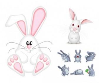 Vector Cute Rabbit Animal Vector Graphics