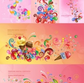 Vector Trend Of Colorful Case Series Pink 5p Vector Art