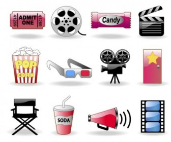 Vector Movie Theme Icon Vector Graphics