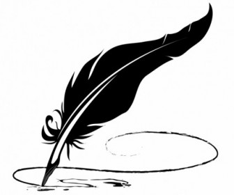 Vector Feather Pen Vector Art