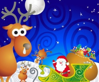 Vector Santa Illustration Cartoon Vector Art