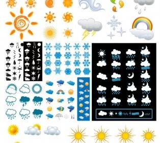 Vector Variety Of Changes In The Weather Icon Vector Graphics