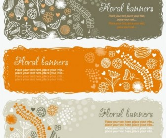 Vector Lovely Handpainted Style Pattern Vector Art