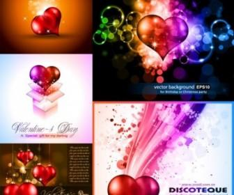 Vector Bright Shine Of Love Heart Vector Art