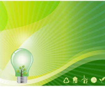 Vector Green Energy Background Vector Art