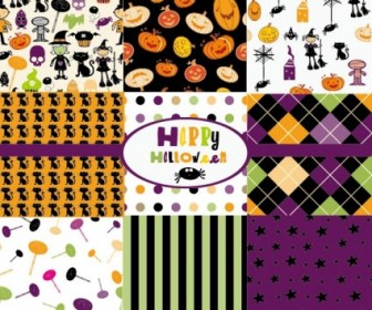Vector Halloween Cartoon 01 Background Vector Art