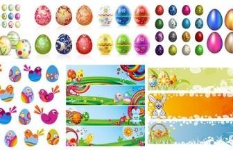 Vector Easter Egg Album Vector Art