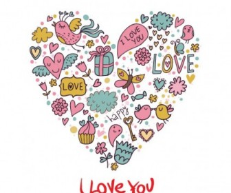 Vector Love Card Graphic Cartoon Vector Art