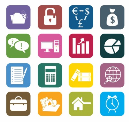 Vector Business Color Icons Icon Vector Graphics Ai Svg