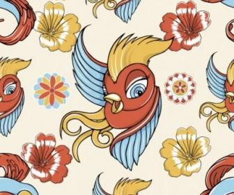 Vector Cartoon Love Birds 04 Pattern Vector Art