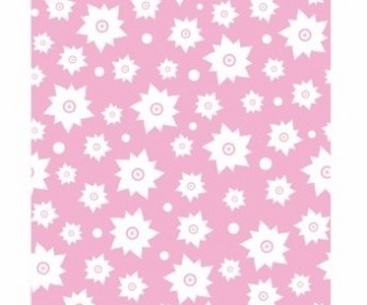 Vector Pink Flower Patten Pattern Vector Art