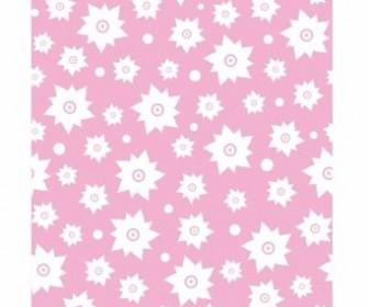 Vector Pink Flower Patten Pattern Vector Art