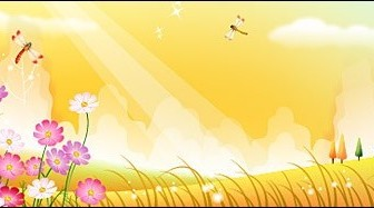 Vector Dragonfly In Flower Garden Landscape Vector Graphics
