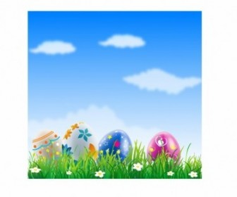 Vector Easter Eggs Vector Art