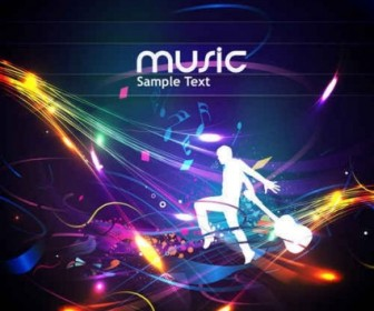 Vector Cool Music Design Background Vector Art