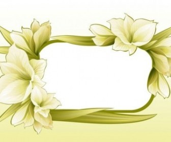 Vector Beautiful Flowers And Lace 04 Flower Vector Art